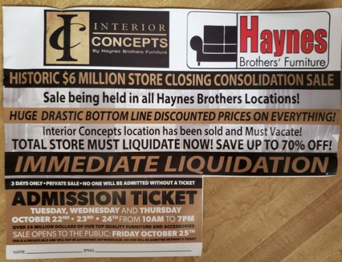 Haynes Brothers' Furniture Sale